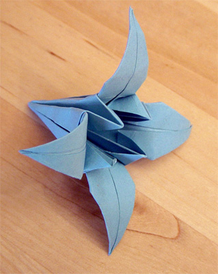 Origamipage lilie - Origami lilie faltanleitung ...