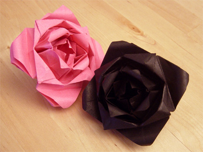 origamipage rosen. Black Bedroom Furniture Sets. Home Design Ideas
