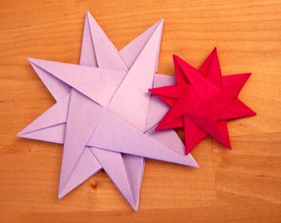 origami falten blume sterne und tiere als deko im. Black Bedroom Furniture Sets. Home Design Ideas