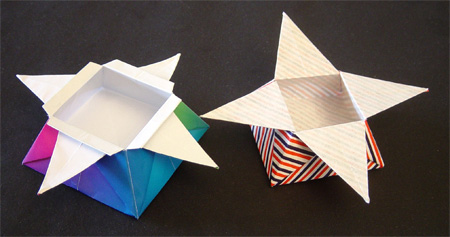 Origamipage Sternboxen