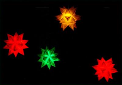 Origamipage x mas modelle for Stern beleuchtet weihnachten